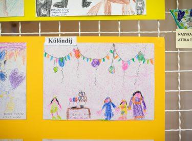 Farsangi gyermekrajzok